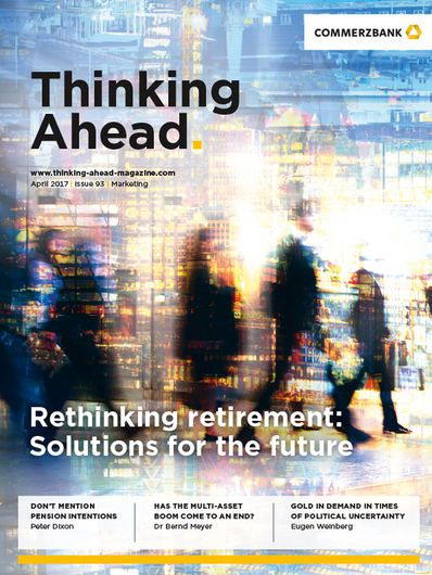 "Front Cover of ""Thinking Ahead"" magazine, April 2017"
